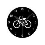 Ruta blanca de la bici reloj