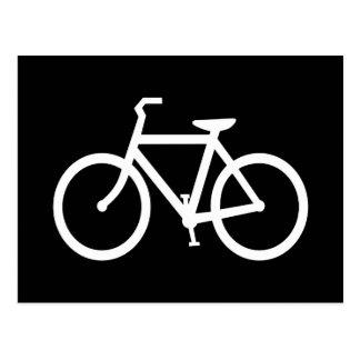 Ruta blanca de la bici tarjeta postal