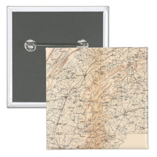 Ruta, campaña de Gettysburg Pin Cuadrado