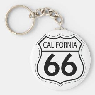 Ruta clásica 66 llavero personalizado