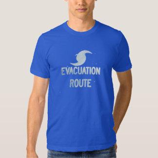 Ruta de la evacuación camisas