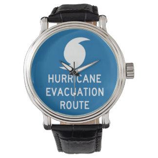 Ruta de la evacuación del huracán relojes de mano