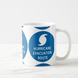 ruta de la evacuación del huracán taza de café
