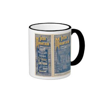 Ruta de la montaña del hierro taza de café