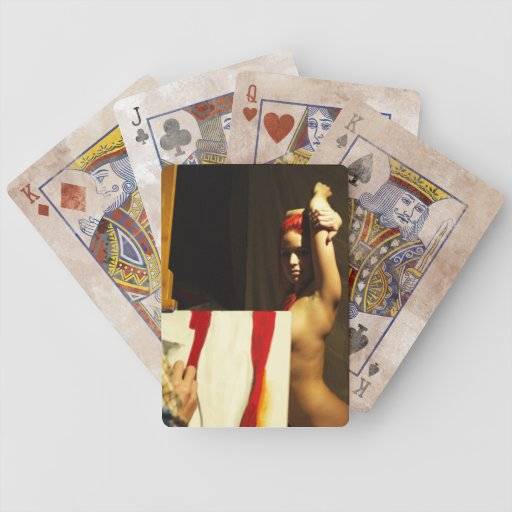 Ruta de los naipes de la aceptación que pintan esc baraja cartas de poker