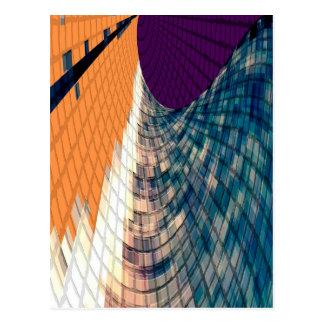 Ruta de oro - púrpura inspirada del diamante n postal