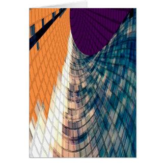 Ruta de oro - púrpura inspirada del diamante n tarjeta de felicitación