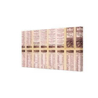 Ruta de Wabash de la página del texto gran Impresión En Lona
