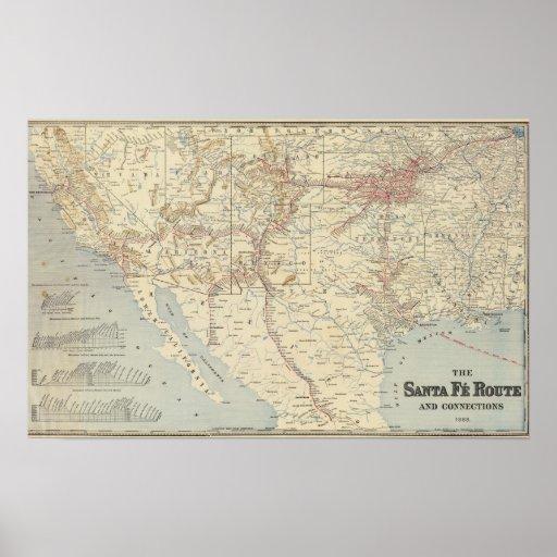 Ruta del FE de Sante, California Póster
