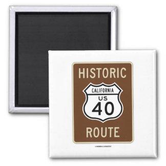 Ruta histórica 40 California de la carretera de Imanes