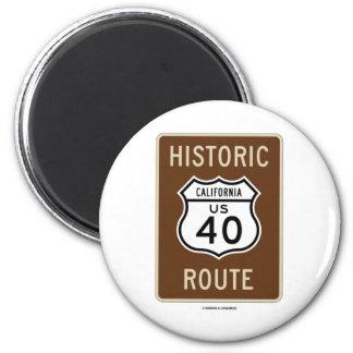 Ruta histórica 40 California de la carretera de Imán Para Frigorifico