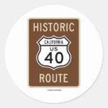 Ruta histórica 40 (California) de la carretera de Etiqueta Redonda