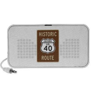 Ruta histórica 40 (California) de los E.E.U.U. de  Portátil Altavoz