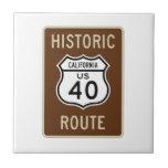 Ruta histórica 40 (California) de los E.E.U.U. de  Teja