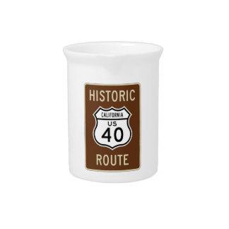 Ruta histórica 40 California de los E E U U de Jarron