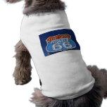 Ruta histórica 66 camiseta de perro