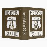 Ruta histórica 66, carpetas del oeste