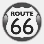 Ruta histórica 66 de los E.E.U.U. Pegatinas Redondas
