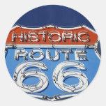 Ruta histórica 66 etiqueta redonda