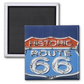 Ruta histórica 66 imán cuadrado