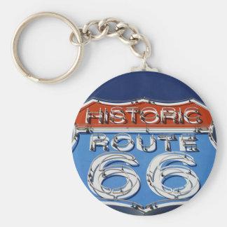 Ruta histórica 66 llavero redondo tipo pin