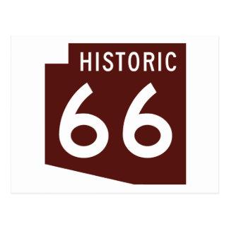 Ruta histórica 66 - mapa del estado de Arizona Tarjetas Postales