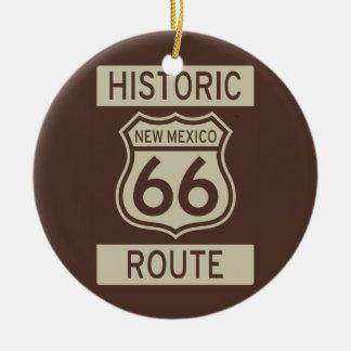 Ruta histórica 66 New México Adorno Navideño Redondo De Cerámica
