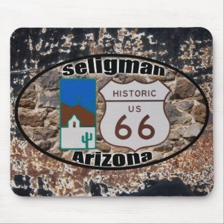 Ruta histórica 66 Seligman Arizona de los E.E.U.U. Alfombrillas De Ratones