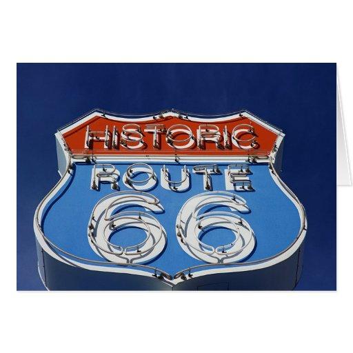 Ruta histórica 66 tarjeta