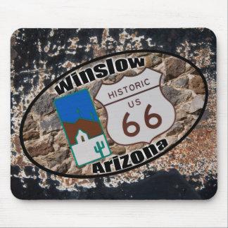 Ruta histórica 66 - Winslow, Arizona Mouse Pads