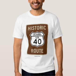 Ruta histórica de California los E.E.U.U. 40 Playera
