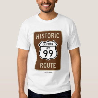 Ruta histórica de California los E.E.U.U. 99 (mues Playeras