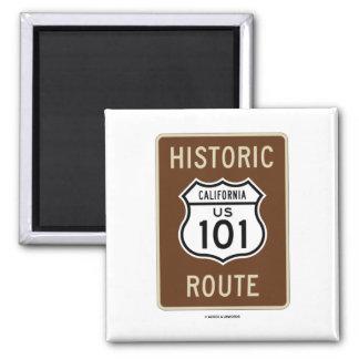 Ruta histórica los E E U U 101 California muestr Imán De Frigorífico