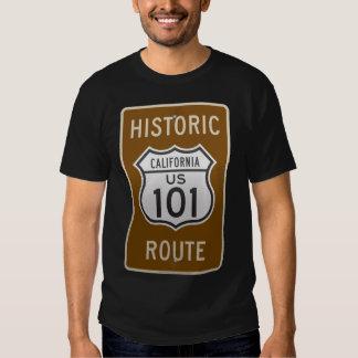 Ruta histórica los E.E.U.U. 101 de California Playeras