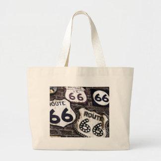 Ruta icónica 66 bolsa tela grande