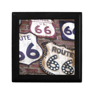 Ruta icónica 66 del vintage caja de joyas