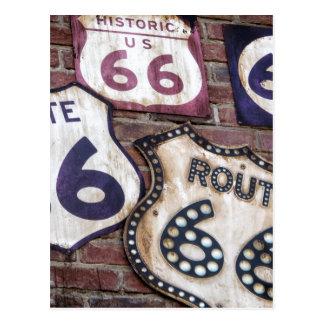 Ruta icónica 66 del vintage tarjeta postal