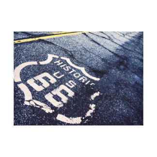 Ruta icónica 66 impresiones en lienzo estiradas