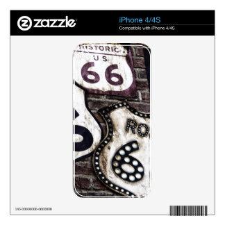 Ruta icónica 66 calcomanía para el iPhone 4S