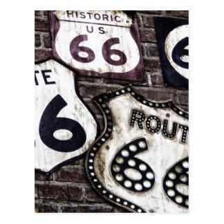 Ruta icónica 66 tarjeta postal
