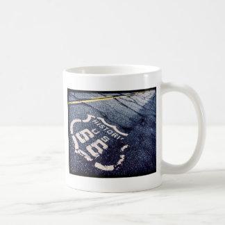 Ruta icónica 66 tazas de café