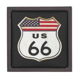 Ruta los E.E.U.U. 66 Cajas De Recuerdo De Calidad