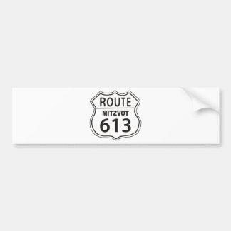 RUTA MITZVOT 613 PEGATINA PARA AUTO