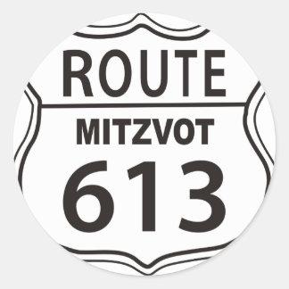 Ruta Mitzvot 613 Pegatina Redonda
