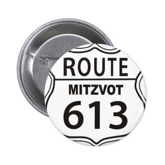 RUTA MITZVOT 613 PIN REDONDO DE 2 PULGADAS