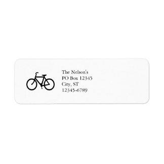 Ruta negra de la bici etiquetas de remite