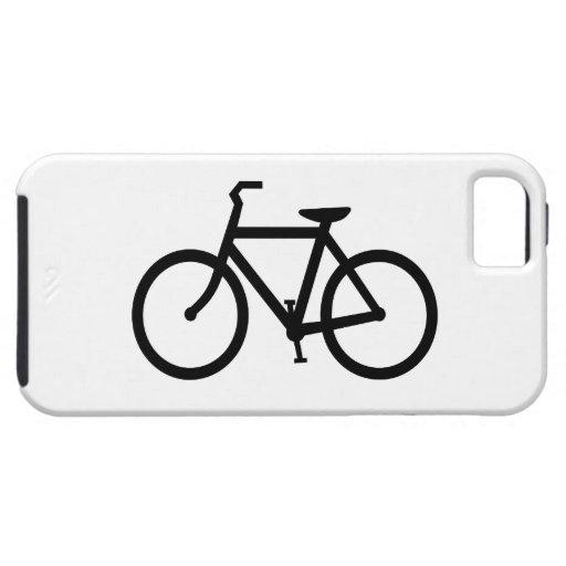 Ruta negra de la bici iPhone 5 fundas