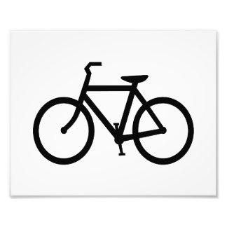 Ruta negra de la bici impresión fotográfica