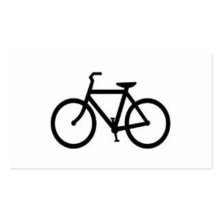 Ruta negra de la bici tarjetas de visita