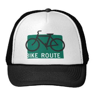 Ruta-Negro de la bici Gorros Bordados